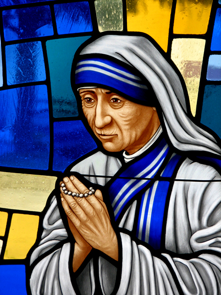 Image result for mother teresa stained glass