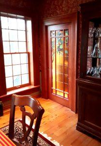 Grape vine & hummingbirds door panel