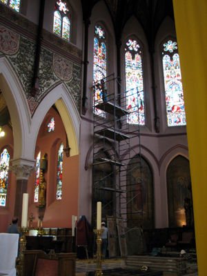 Another Phase of Our Ongoing Stained Glass Restoration at St. Peter's Cathedral Basilica