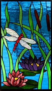 Dragonfly & Waterlilies