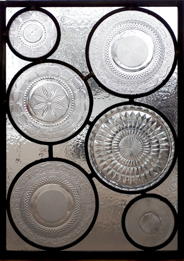 Pressed Glass Plate Panels